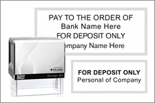 For Deposit Only Stamps