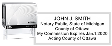 NS-01-MI - Michigan Notary Public Stamp